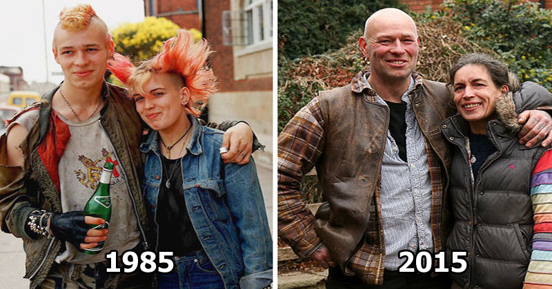 Street Photographer Recreates Photos He Took in the 80s in Amazing Reunion Series