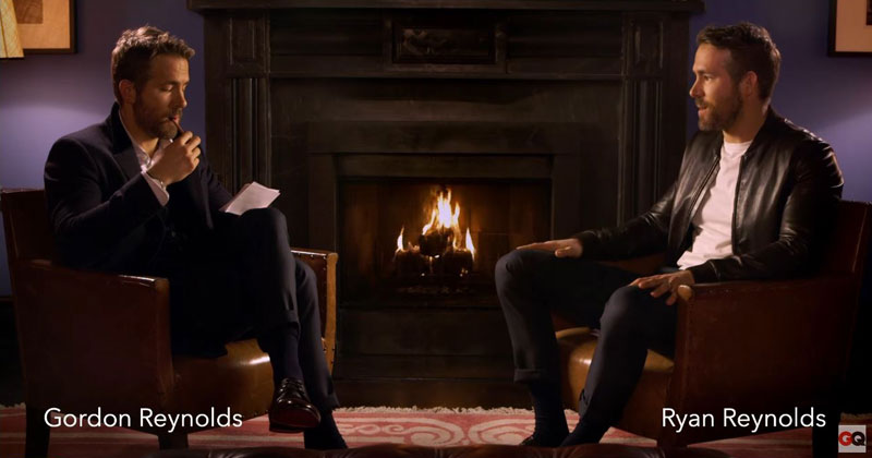 Ryan Reynolds Gets Interviewed (Roasted) by His Twin Brother Gordon