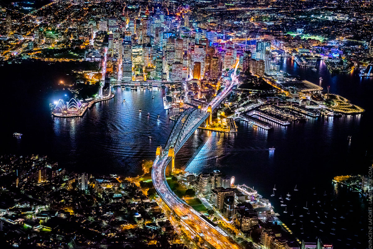 Vincent Lafort Takes the Most Amazing Night Time Aerials I Have Ever Seen sydney
