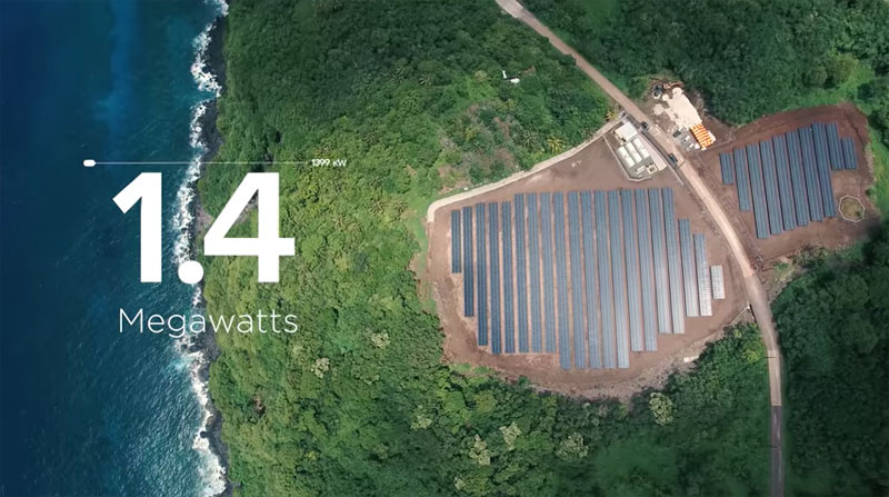 tesla powers entire island with solar energy 12 Tesla Just Powered a 600 Person Island With Renewable Solar Energy