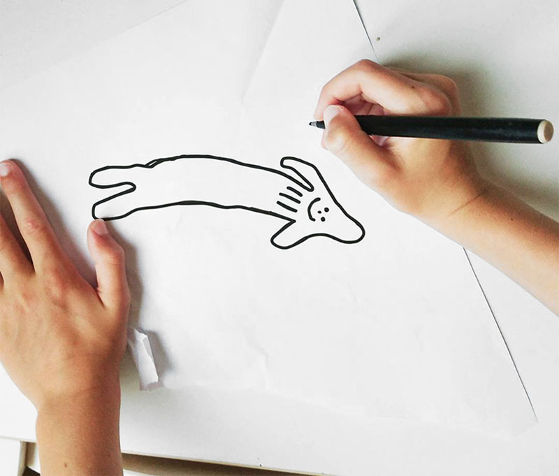 Line Art Instagram : Dad turns year old son s drawings into weirdly realistic