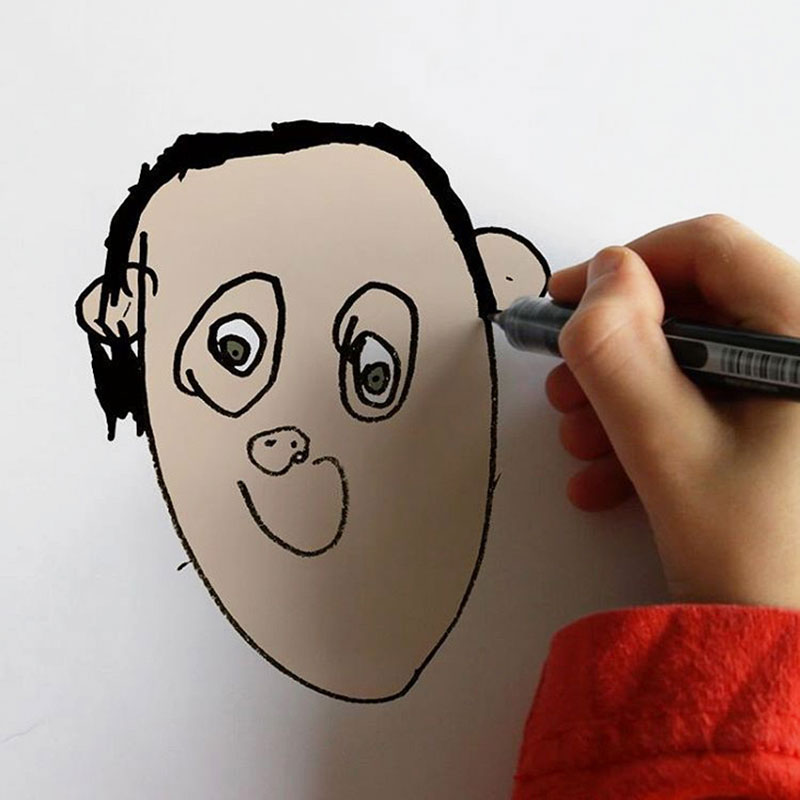 things i have drawn dom instagram 4 Dad Turns 6 Year Old Sons Drawings Into Weirdly Realistic Renderings