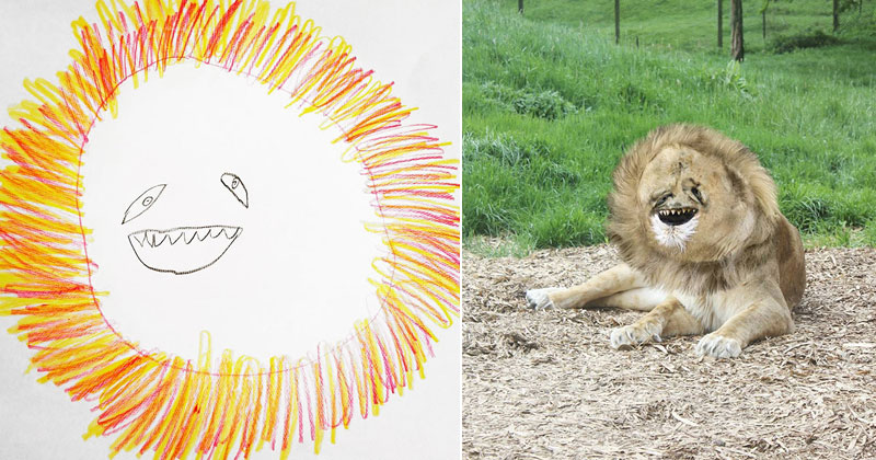 Dad Turns 6-Year-Old Son's Drawings Into Weirdly Realistic Renderings