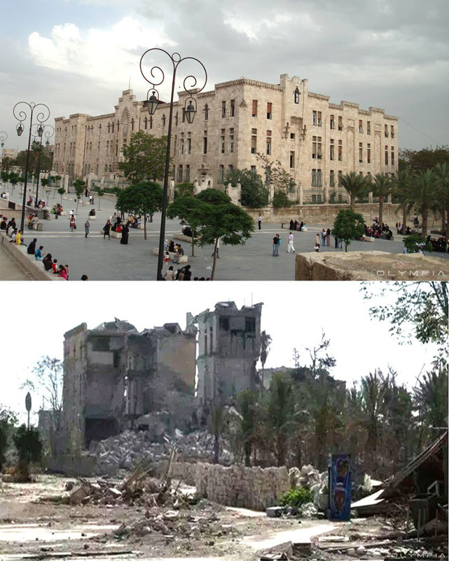 a syrian restaurant is posting before and after photos of aleppo and its heartbreaking 12 A Syrian Restaurant is Posting Before and After Photos of Aleppo and Its Heartbreaking