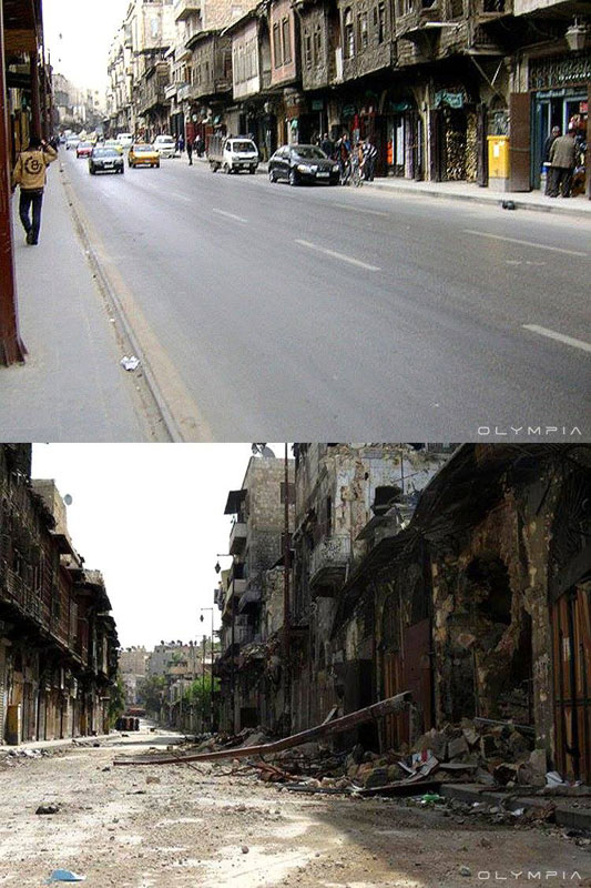 a syrian restaurant is posting before and after photos of aleppo and its heartbreaking 15 A Syrian Restaurant is Posting Before and After Photos of Aleppo and Its Heartbreaking
