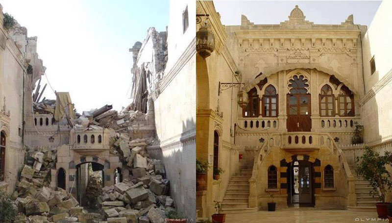a syrian restaurant is posting before and after photos of aleppo and its heartbreaking 17 A Syrian Restaurant is Posting Before and After Photos of Aleppo and Its Heartbreaking