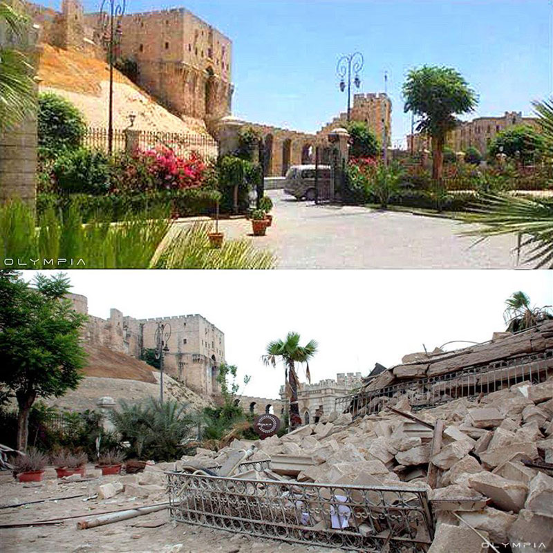 a syrian restaurant is posting before and after photos of aleppo and its heartbreaking 2 A Syrian Restaurant is Posting Before and After Photos of Aleppo and Its Heartbreaking