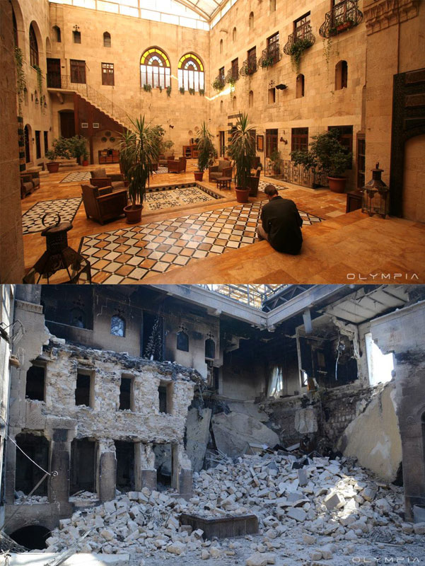 a syrian restaurant is posting before and after photos of aleppo and its heartbreaking 24 A Syrian Restaurant is Posting Before and After Photos of Aleppo and Its Heartbreaking