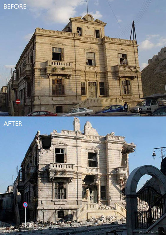 a syrian restaurant is posting before and after photos of aleppo and its heartbreaking 25 A Syrian Restaurant is Posting Before and After Photos of Aleppo and Its Heartbreaking