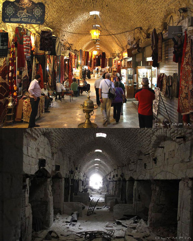 a syrian restaurant is posting before and after photos of aleppo and its heartbreaking 26 A Syrian Restaurant is Posting Before and After Photos of Aleppo and Its Heartbreaking