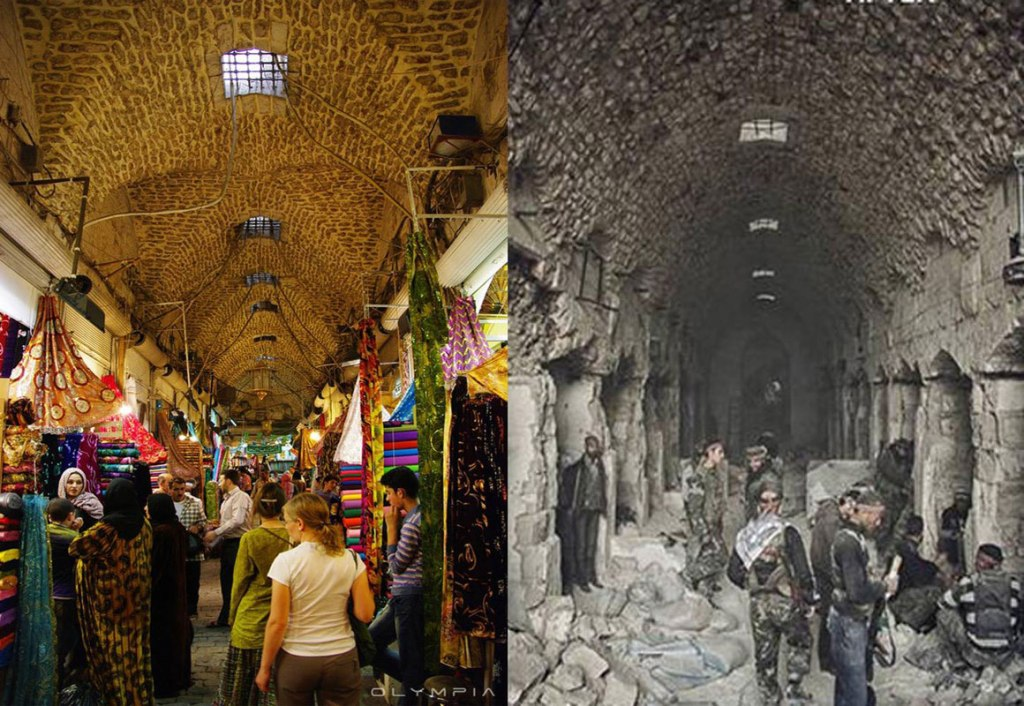 a syrian restaurant is posting before and after photos of aleppo and its heartbreaking 27 A Syrian Restaurant is Posting Before and After Photos of Aleppo and Its Heartbreaking