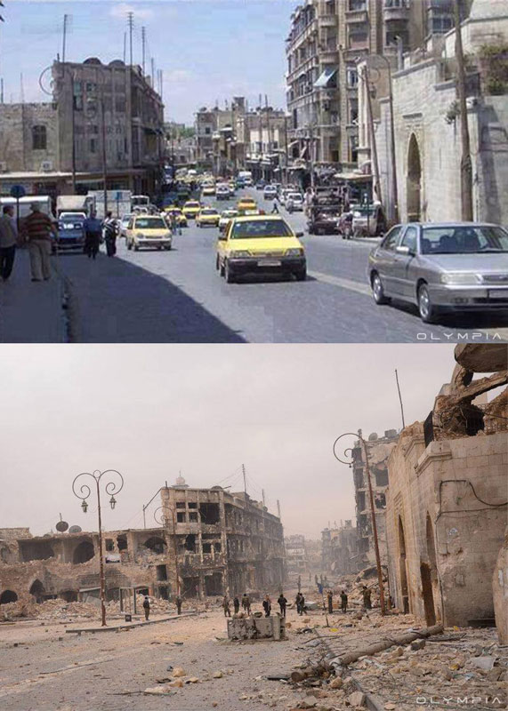 a syrian restaurant is posting before and after photos of aleppo and its heartbreaking 3 A Syrian Restaurant is Posting Before and After Photos of Aleppo and Its Heartbreaking