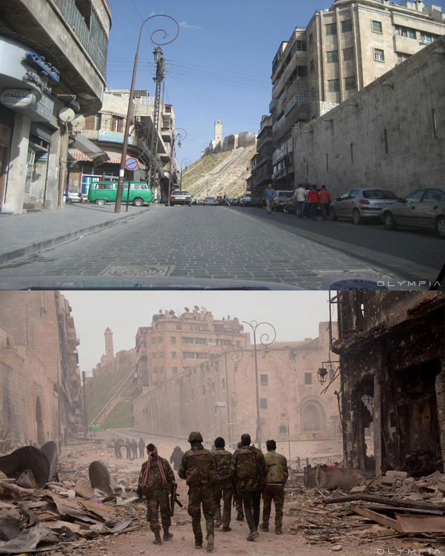 a syrian restaurant is posting before and after photos of aleppo and its heartbreaking 35 A Syrian Restaurant is Posting Before and After Photos of Aleppo and Its Heartbreaking