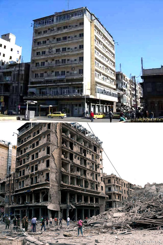 a syrian restaurant is posting before and after photos of aleppo and its heartbreaking 37 A Syrian Restaurant is Posting Before and After Photos of Aleppo and Its Heartbreaking