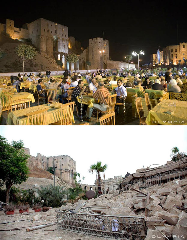a syrian restaurant is posting before and after photos of aleppo and its heartbreaking 6 A Syrian Restaurant is Posting Before and After Photos of Aleppo and Its Heartbreaking