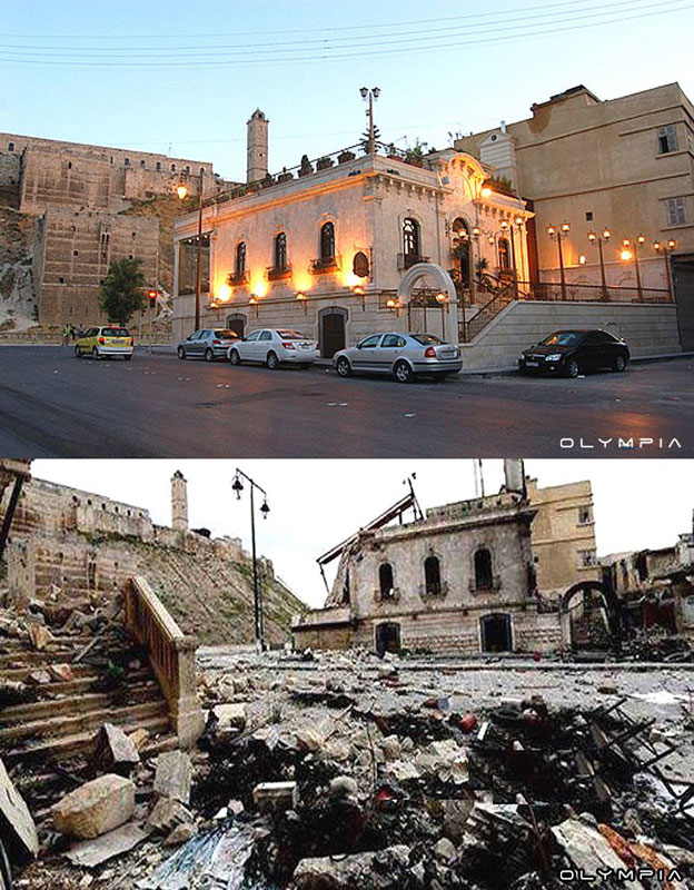 a syrian restaurant is posting before and after photos of aleppo and its heartbreaking 8 A Syrian Restaurant is Posting Before and After Photos of Aleppo and Its Heartbreaking