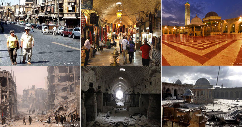 A Syrian Restaurant is Posting Before and After Photos of Aleppo and It's Heartbreaking