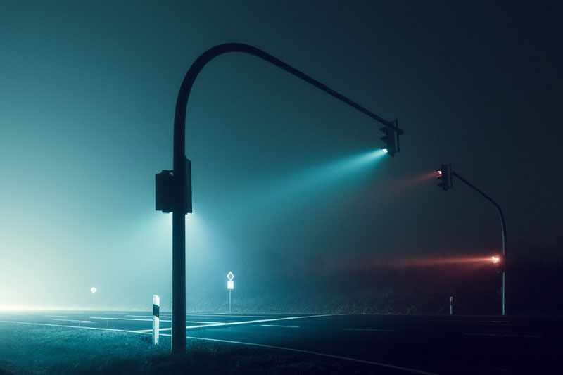 Picture of the Day: Foggy Nights, Long Exposure Lights