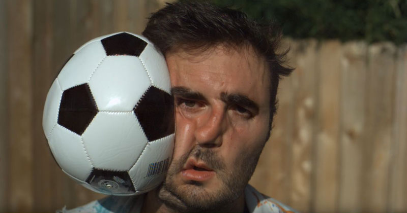 Football to the Face at 28,000 FPS