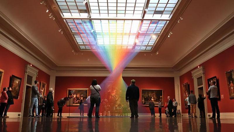 gabriel dawe threaded rainbow plexus 35 toledo museum of art 1 Gabriel Dawes Threaded Rainbows are Beautiful