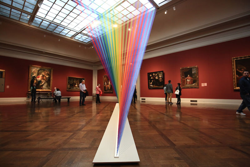 gabriel dawe threaded rainbow plexus 35 toledo museum of art 3 Gabriel Dawes Threaded Rainbows are Beautiful