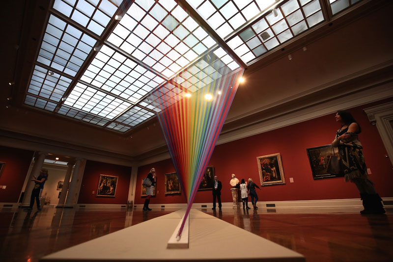 gabriel dawe threaded rainbow plexus 35 toledo museum of art 5 Gabriel Dawes Threaded Rainbows are Beautiful