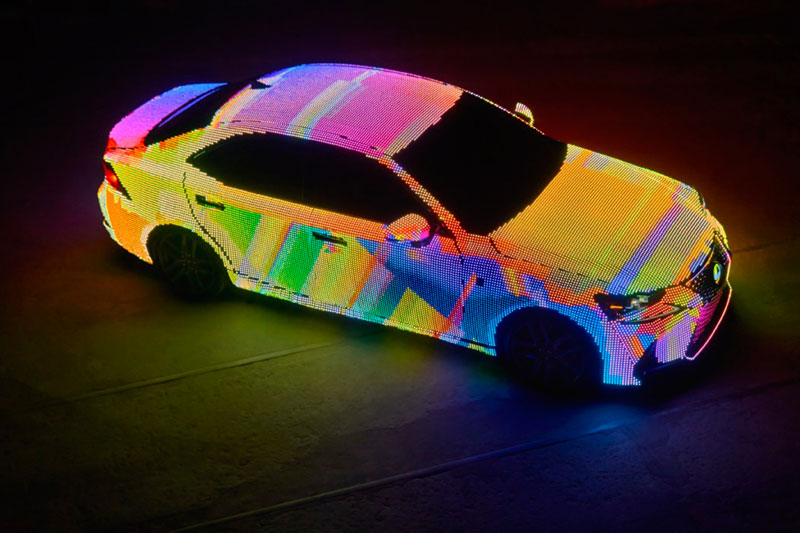 led lexus 3 This Lexus Wrapped in 42,000 LEDs is Definitely Not Street Legal