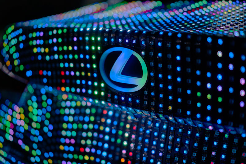 led lexus 4 This Lexus Wrapped in 42,000 LEDs is Definitely Not Street Legal