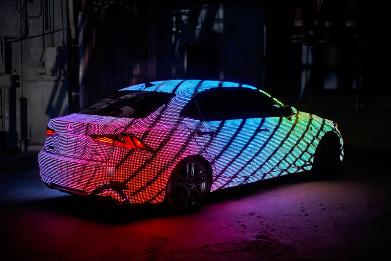 led lexus 5 This Lexus Wrapped in 42,000 LEDs is Definitely Not Street Legal