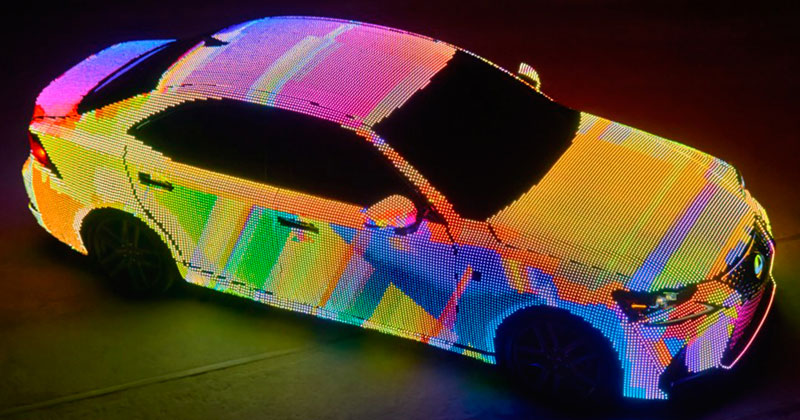 This Lexus Wrapped in 42,000 LEDs is Definitely Not Street Legal