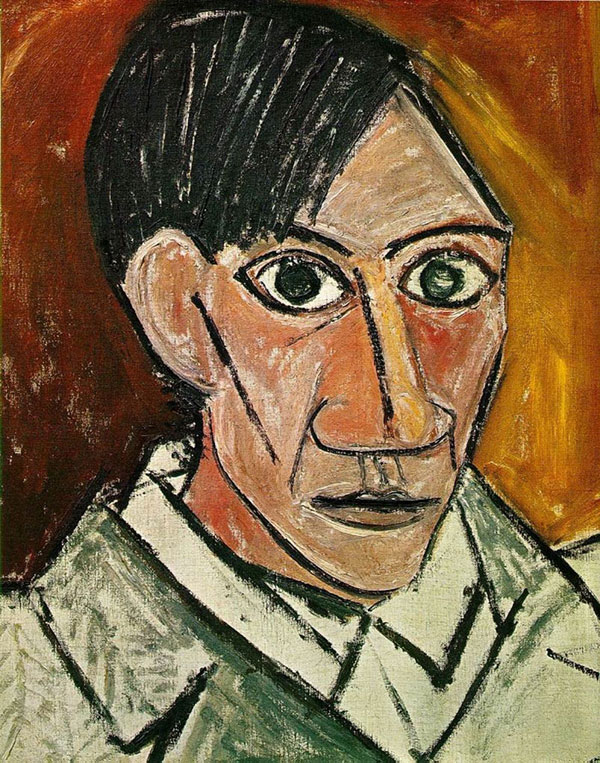 picasso self portrait 25 years old 1907 Picassos Self Portraits from 15 Years Old to 90 Year Old
