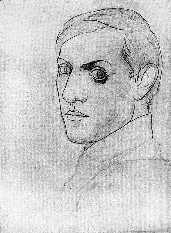picasso self portrait 35 years old 1917 Picassos Self Portraits from 15 Years Old to 90 Year Old