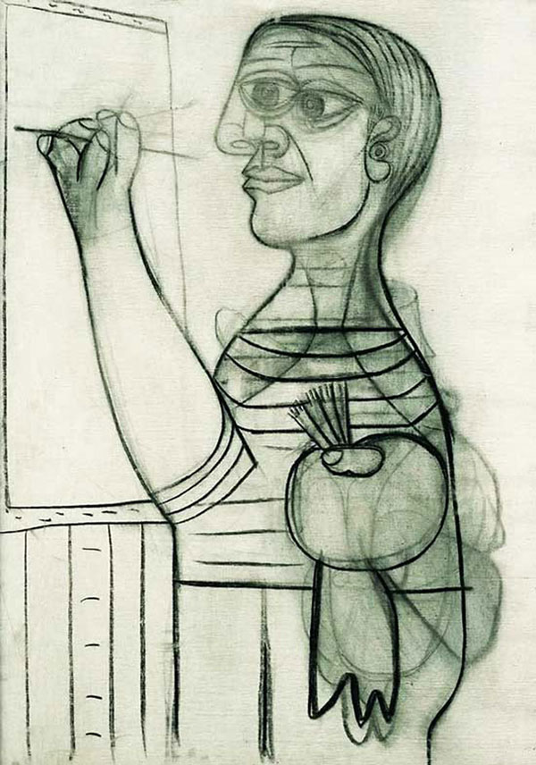 picasso self portrait 56 years old 1938 Picassos Self Portraits from 15 Years Old to 90 Year Old