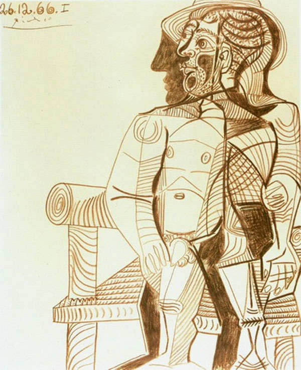 picasso self portrait 85 years old 1966 Picassos Self Portraits from 15 Years Old to 90 Year Old