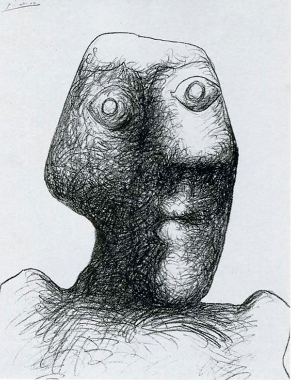 picasso self portrait 90 years old july 3 1972 Picassos Self Portraits from 15 Years Old to 90 Year Old