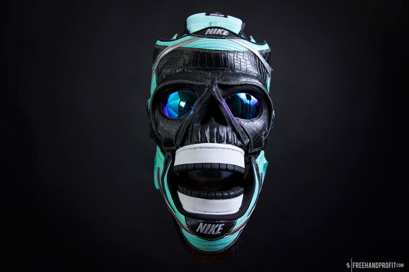 sneaker gas masks by freehand profit gary lockwood 17 Send This Guy Your Kicks and Hell Turn Them Into a Crazy Mask
