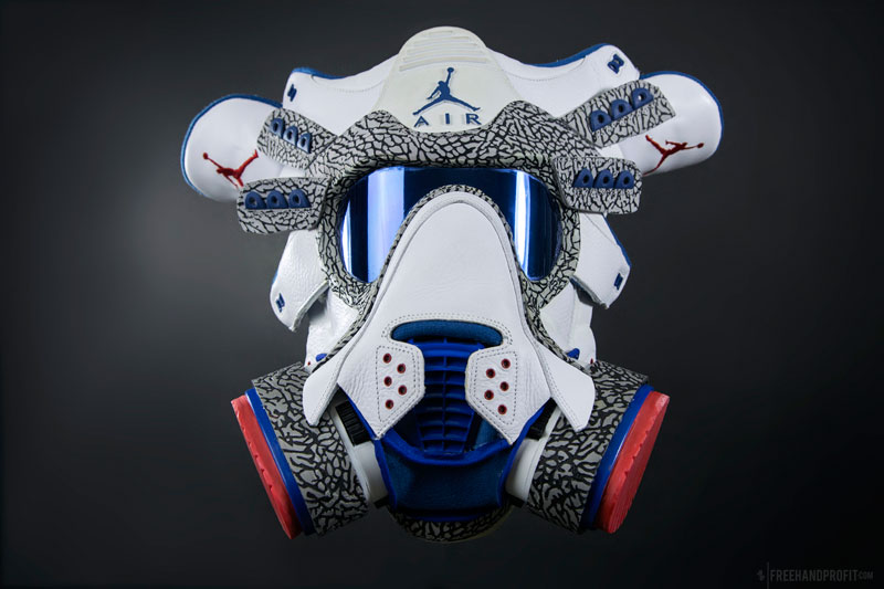 sneaker gas masks by freehand profit gary lockwood 6 Send This Guy Your Kicks and Hell Turn Them Into a Crazy Mask