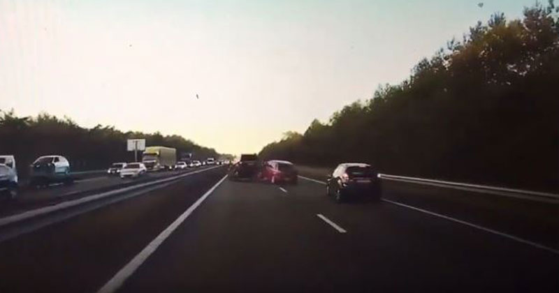 Dash Cam Shows Tesla's Autopilot Braking for a Crash Before It Happens