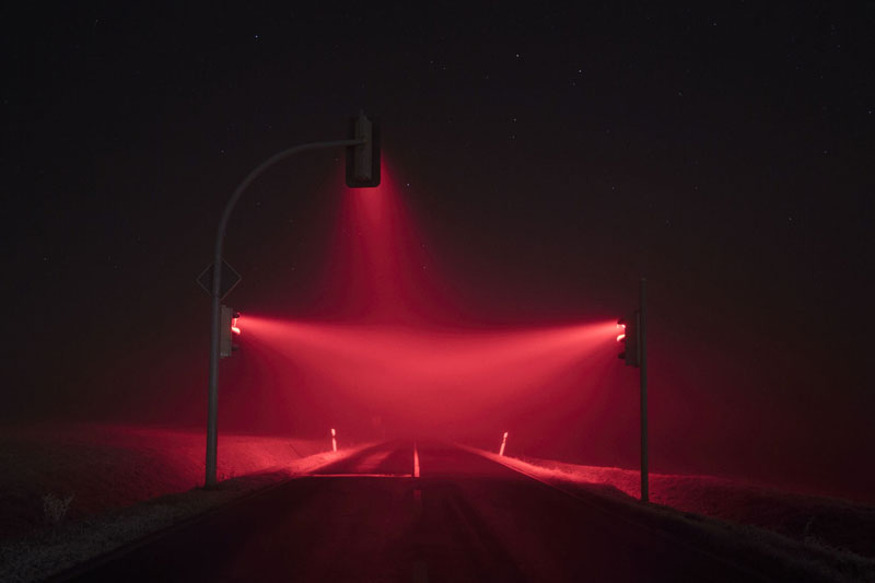 traffic lights at night long exposure by lucas zimmermann 6 Long Exposure Traffic Lights by Lucas Zimmermann