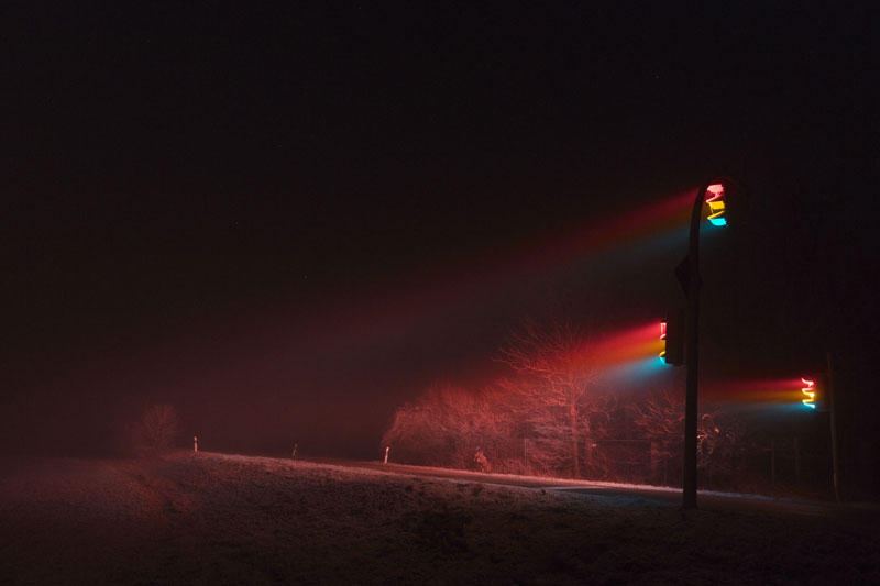 traffic lights at night long exposure by lucas zimmermann 7 Long Exposure Traffic Lights by Lucas Zimmermann