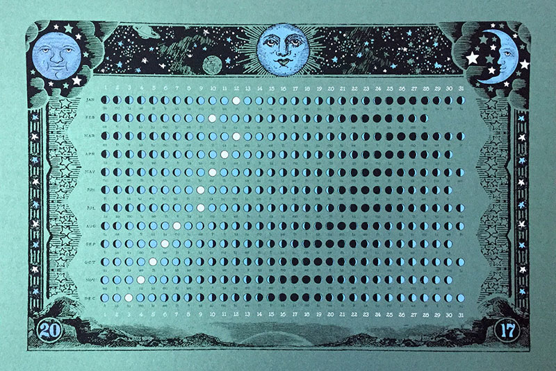 2017 lunar calendar by nate duval Moon Calendars for 2017