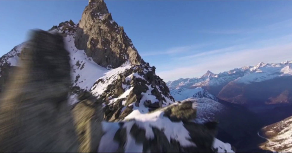 A Racing Drone Soared Up the Swiss Alps and the Footage is Incredible