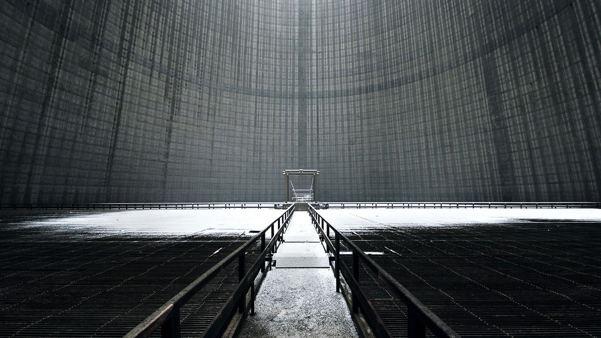 abandoned cooling towers by reginald van de velde 12 The Insides of these Abandoned Cooling Towers Look Straight Out of a Sci Fi Film