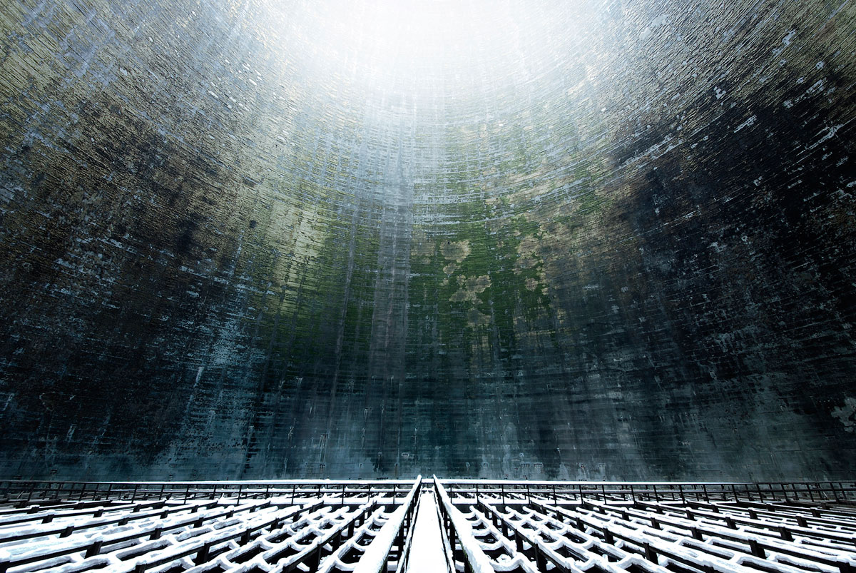 abandoned cooling towers by reginald van de velde 24 The Insides of these Abandoned Cooling Towers Look Straight Out of a Sci Fi Film