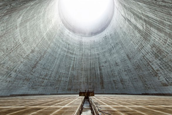 The Insides of these Abandoned Cooling Towers Look Straight Out of a Sci-Fi Film