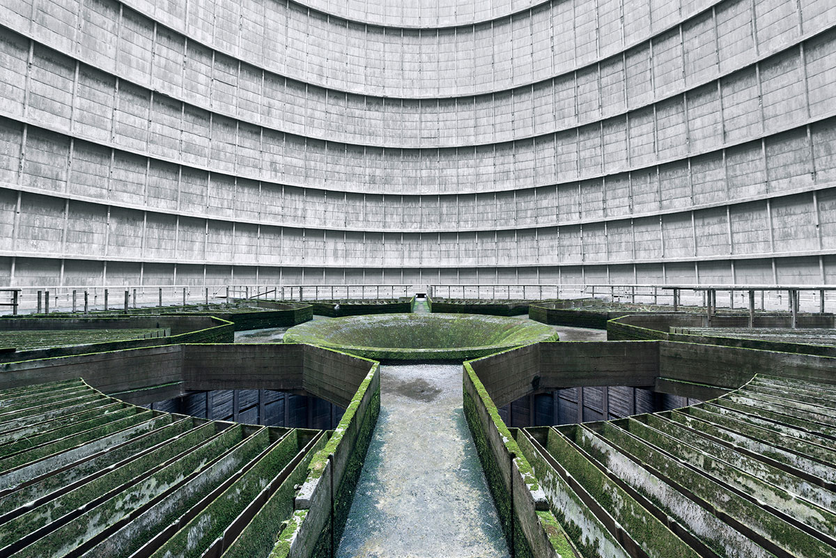 abandoned cooling towers by reginald van de velde 3 The Insides of these Abandoned Cooling Towers Look Straight Out of a Sci Fi Film