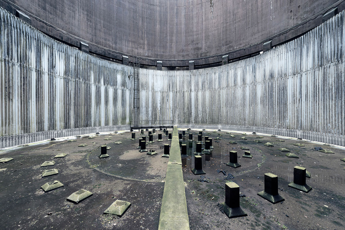abandoned cooling towers by reginald van de velde 4 The Insides of these Abandoned Cooling Towers Look Straight Out of a Sci Fi Film