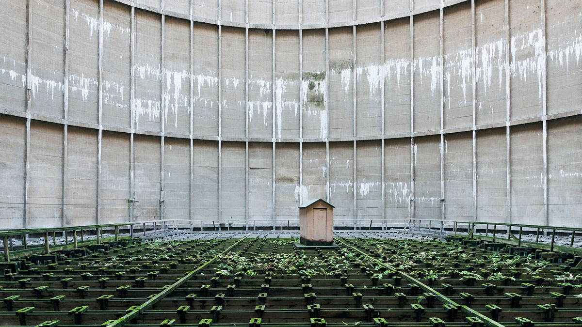 abandoned cooling towers by reginald van de velde 8 The Insides of these Abandoned Cooling Towers Look Straight Out of a Sci Fi Film