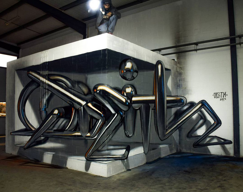 anamorphic corner wall by odeith 1 Amazing Anamorphic Corner Wall by Odeith