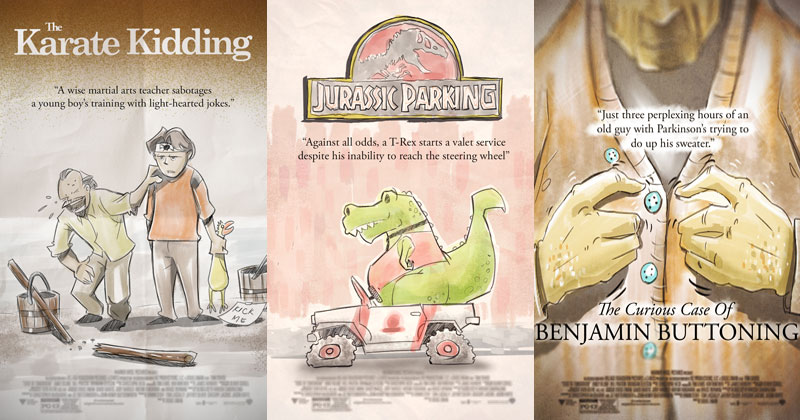 Artist Adds 'ing' to Famous Movie Titles and Illustrates theResults